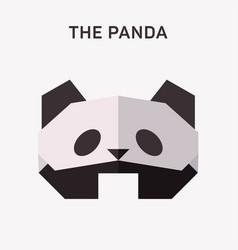 panda animals origami flat vector image