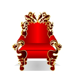 Red throne vector