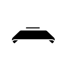 ribbon icon black sign o vector image vector image
