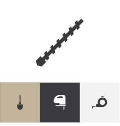 set of 4 editable tools icons includes symbols vector image vector image