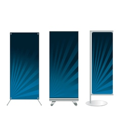 Set of banner stand display vector image