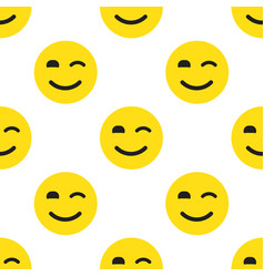 smile face seamless pattern vector image