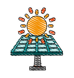 Solar panel renewable energy source icon image vector