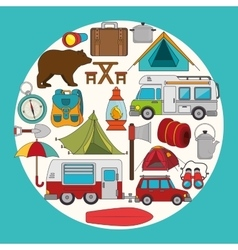 Summer camping and travel vector image