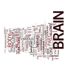 The brain text background word cloud concept vector