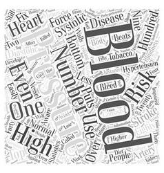 Understanding your blood pressure word cloud vector
