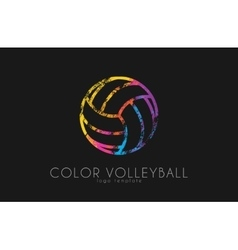 Volleyball logo Volleyball ball logo design vector image