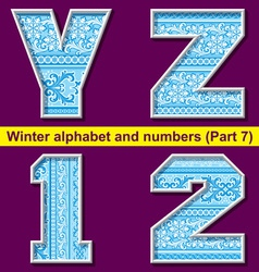 winter abc 07 vector image vector image