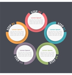 Circle Diagram Five Elements vector image