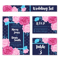 Save wedding date invitations cards vector