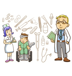 Medical and hospital vector