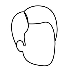 Sketch silhouette of man faceless with haircut vector