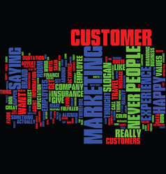 The branded customer experience we never say no vector