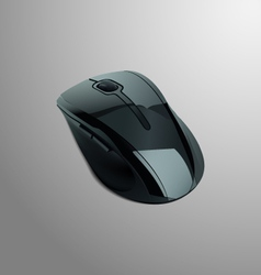 Realistic of a black computer mouse vector image