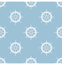 Seamless pattern with helm of ship vector