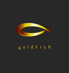 Goldfish abstract logo concept shape of animal vector