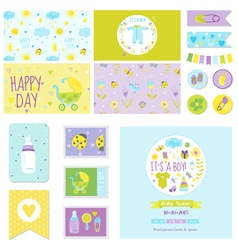 Baby shower little boy set - for party decoration vector