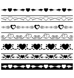 set of black borders vector image