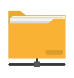 file folder icon vector image