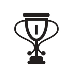 Flat icon in black and white style cup winner vector