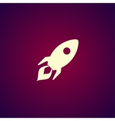 Rocket icon flat design style vector