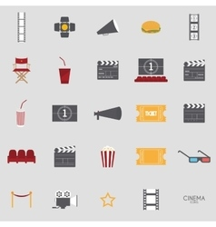 Abstract Cinema objects vector image vector image