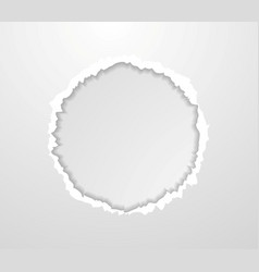 Abstract circle torn paper edge background vector