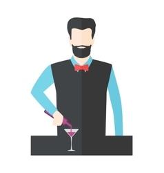 Bartender barman vector image vector image