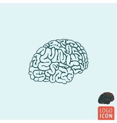 Brain icon isolated vector image
