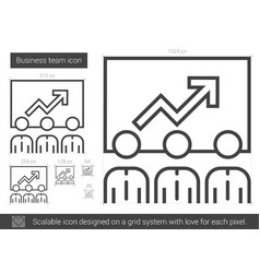 Business team line icon vector