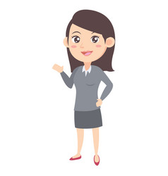 Business women character cartoon vector
