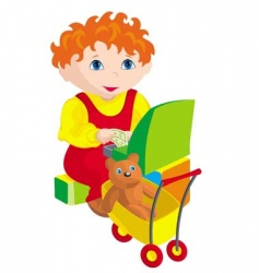 child cashier vector image vector image