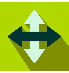 Cross arrows flat icon vector