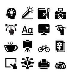 designer icon set vector image