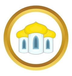 Domes of the church icon vector