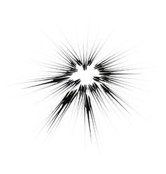 Explode flash cartoon explosion star burst vector