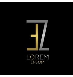 EZ letters logo vector image vector image