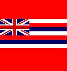 flag of hawaii vector image vector image