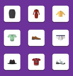Flat clothes set of underclothes clothes t-shirt vector