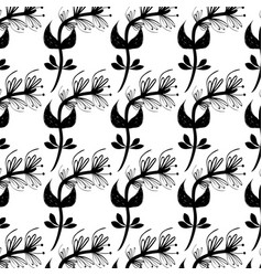 Flowers branches background decoration design vector