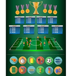 Football soccer match statistics vector