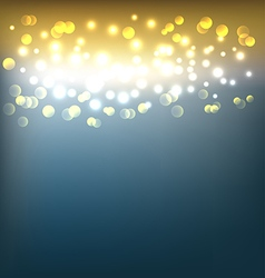 Golden abstract background with bokeh lights vector image