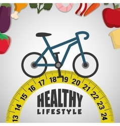 Healthy lifestyle fitness design vector