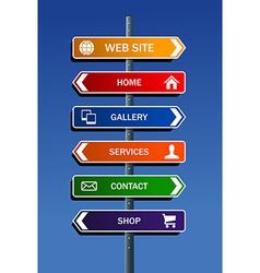 Internet website plan vector image