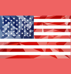 low poly usa flag vector image