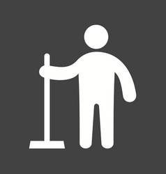 Man holding wiper vector