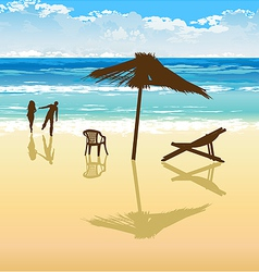 on the beach vector image vector image