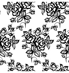 roses seamless vector image