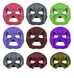Set of colorful superhero mask vector