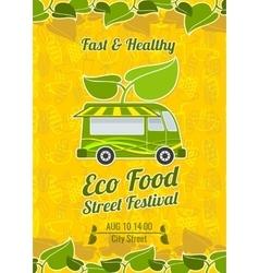 Street food festival vintage poster vector image